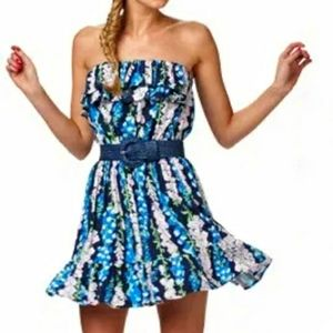 LILLY PULITZER Foxglove Strapless Dress Quincy S